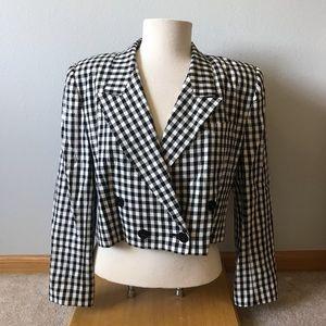 Vintage Clueless style cropped blazer! 90s checker